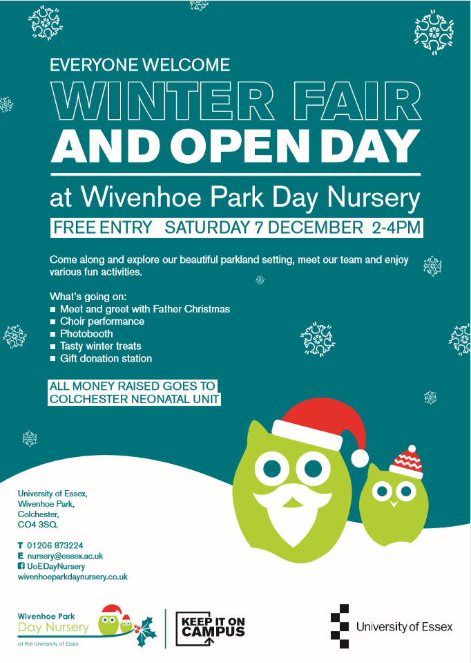 Wivenhoe Park Day Nursery Winter Fair