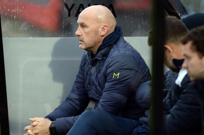 John McGreal in the dug out at Cheltenham Picture Pagepix.
