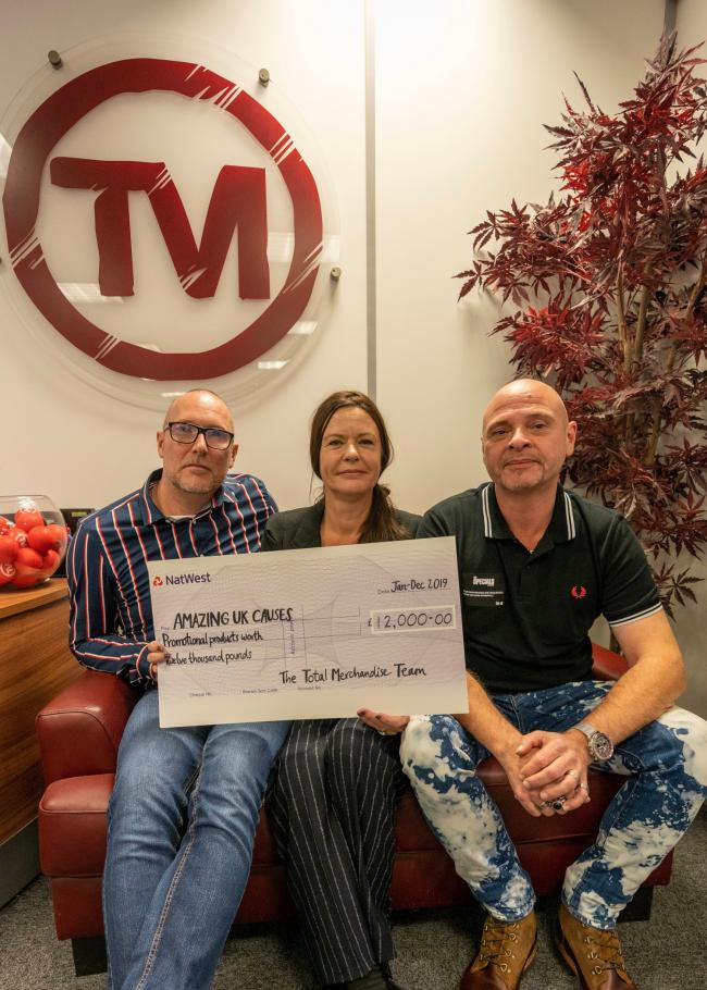 Donations - Jason O'Connor, Michelle Rae Stoddart and David Stoddart from Total Merchandise