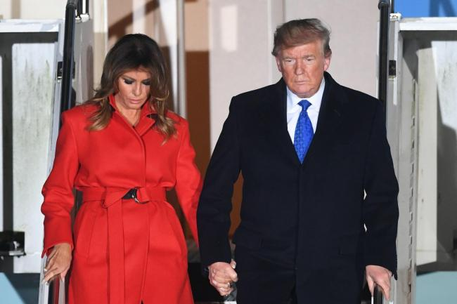 US President Donald Trump and his wife Melania