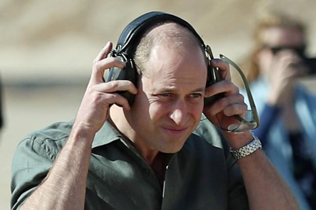 The Duke of Cambridge at the Sheikh Salim Al-Ali National Guard Camp