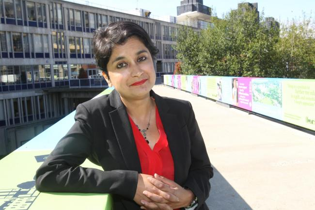 Baroness Shami Chakrabarti at Essex University during her time as chancellor