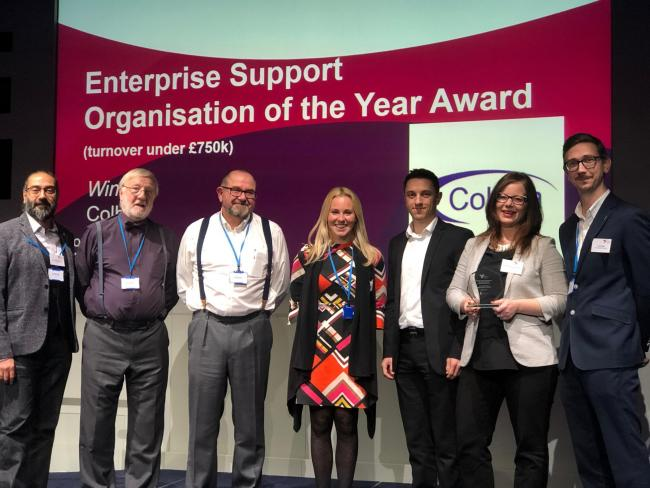 Winners - the Colbea team at the awards ceremony