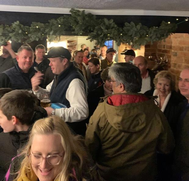 Gazette: The Alma was packed on Christmas Eve
