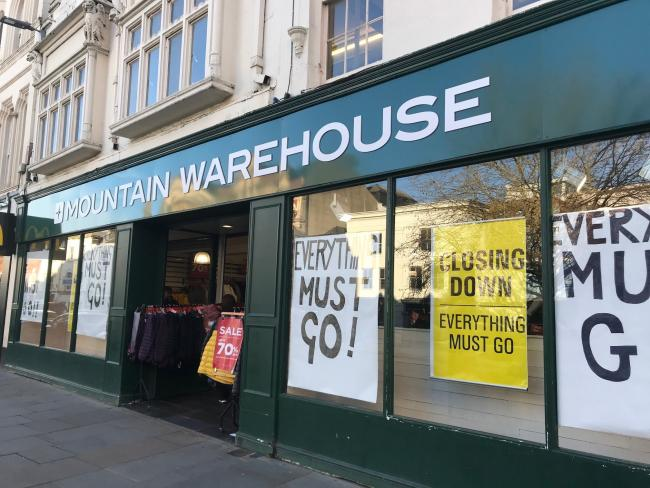 Mountain Warehouse is closing