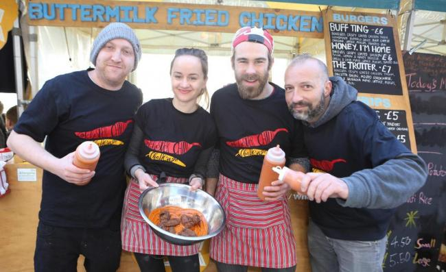 Spicy - Paul Hagger, Jessie Brown, Nathan Grinham and Demi Quinn at a previous Colchester Chilli Challenge