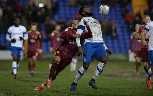 Kayden Jackson was sent off late in Ipswich's defeat against Oxford United Picture: Pagepix