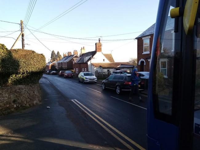 Road closure: Power lines fell down in the road Picture: Essex Police