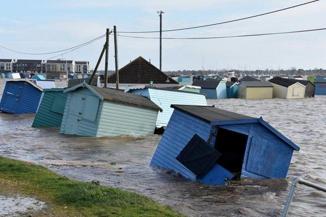 Devastation - beach huts were swept away by the tides	Pictures: Ant Niles