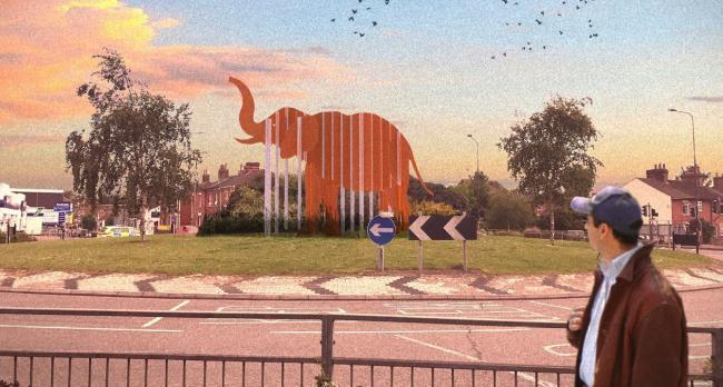 How the elephant sculpture at the Albert Roundabout could look