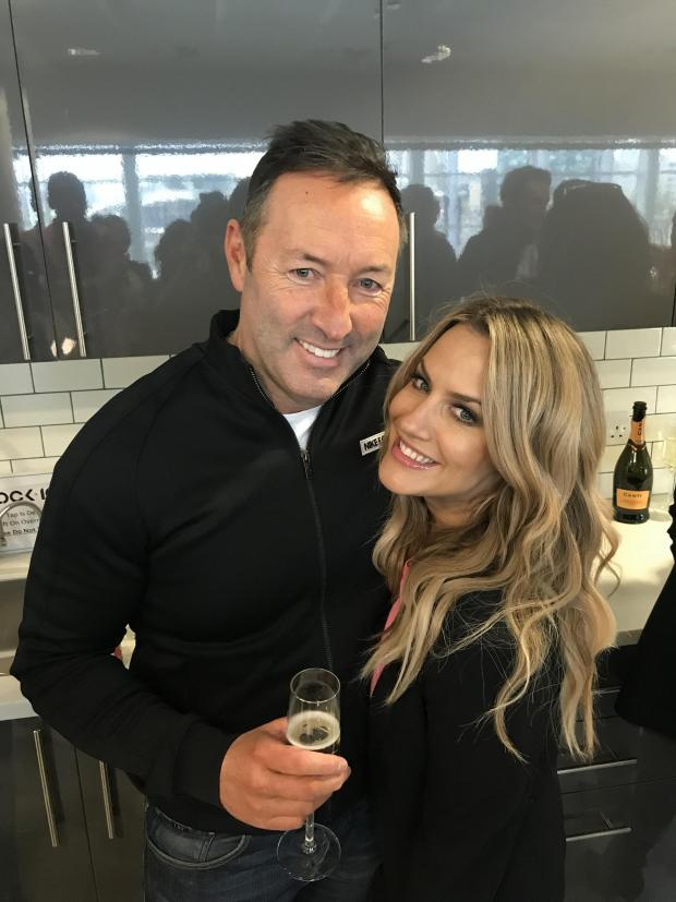 Gazette: Les Langley, pictured with Caroline Flack