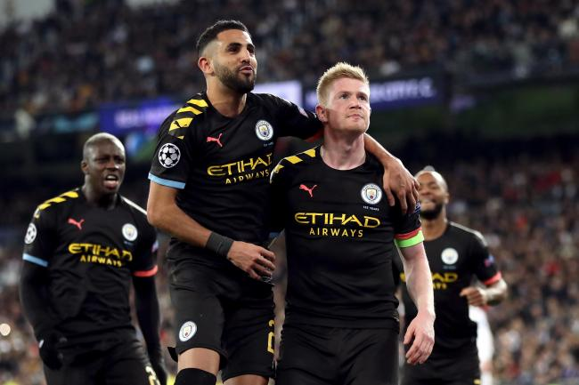 Kevin De Bruyne (right) hailed his side's character