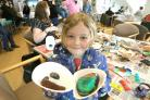 Brightlingsea Sailing Club arts and crafts day.Logan Mathias-Redwarfe, 6, with his painted stone