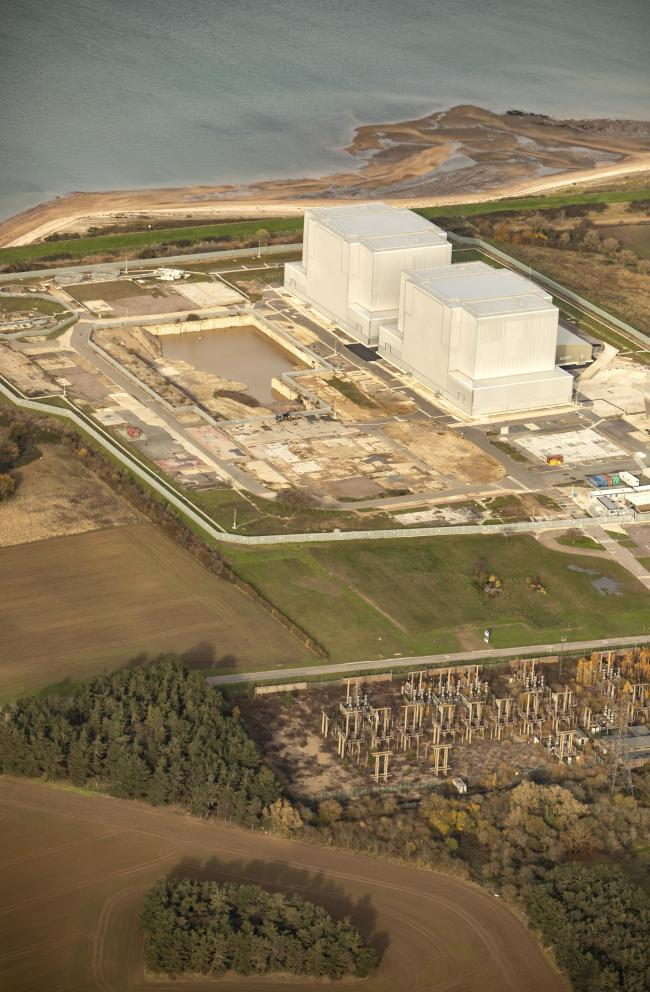 Nov 2019 aerial photography..Bradwell Power Station.
