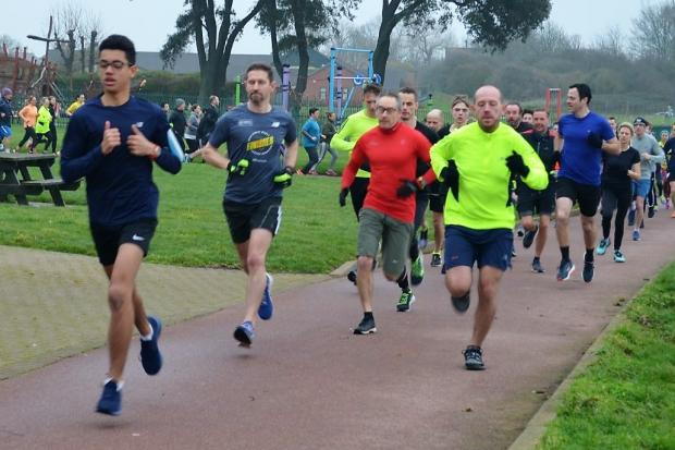Action from a recent parkrun in Harwich's Cliff Park