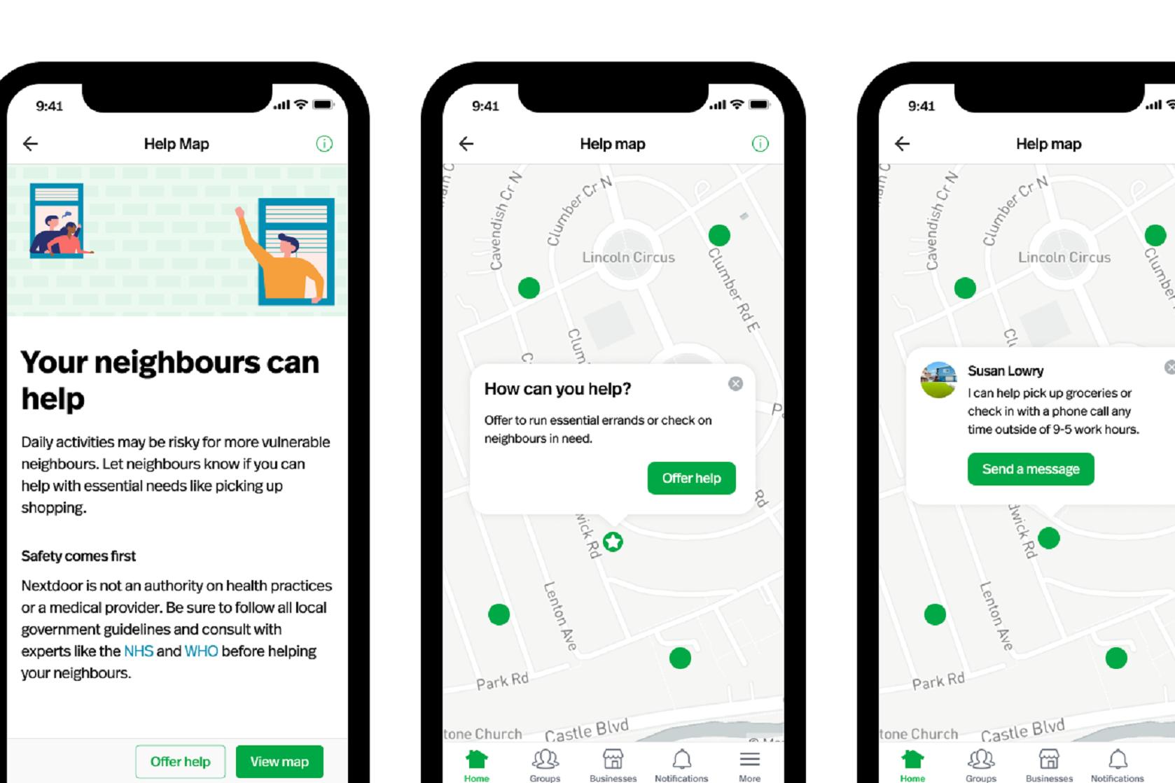 Nextdoor launches Help Map in UK for neighbourhood support - Gazette