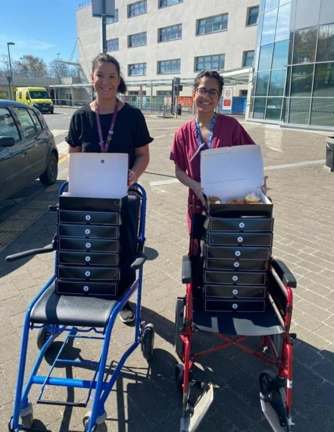 The Bagel Dough delivery to Broomfield Hospital