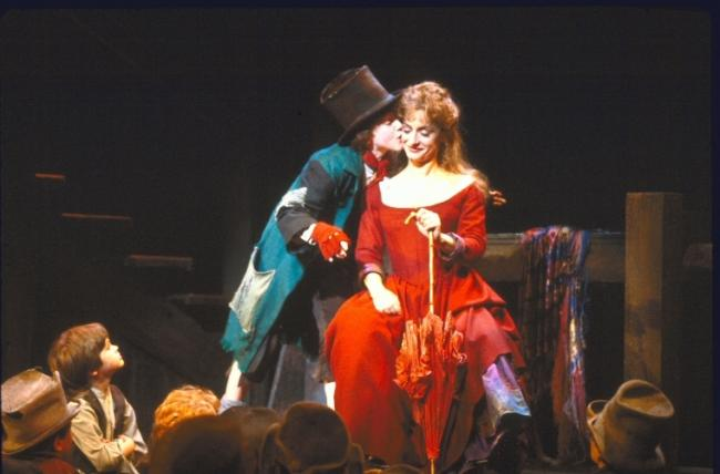 And a picture of me as The Artful Dodger and Patti Lupone as Nancy: Broadway 1984NYPL digital collections