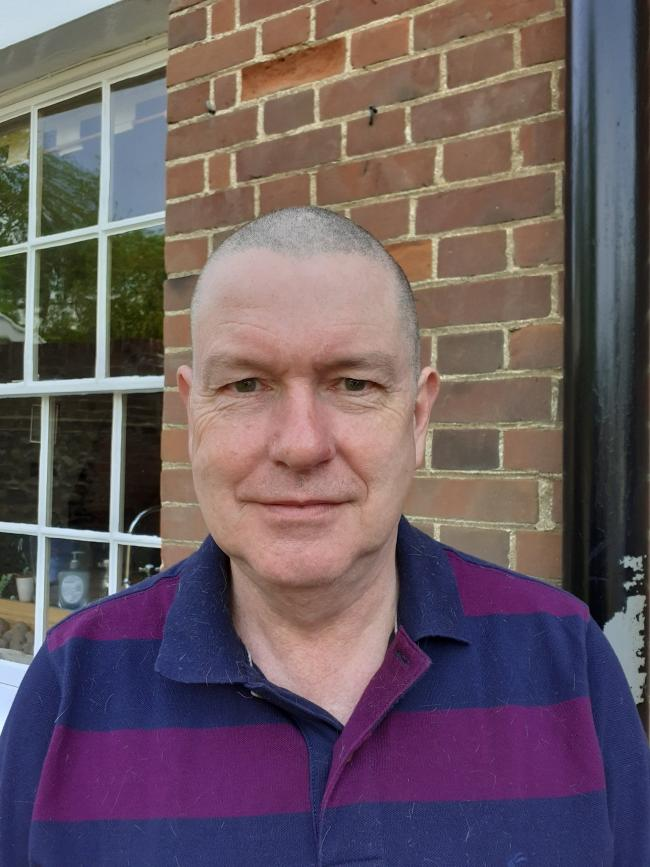 GREAT SUPPORT: Ian Davidson has raised more than £3,000 for Teen Talk by shaving his head