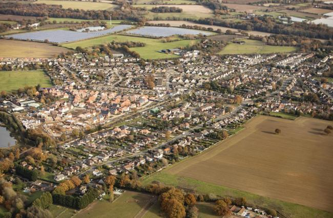From above - large new estates have seen Alresford grow rapidly in recent years. Picture: Steve Brading