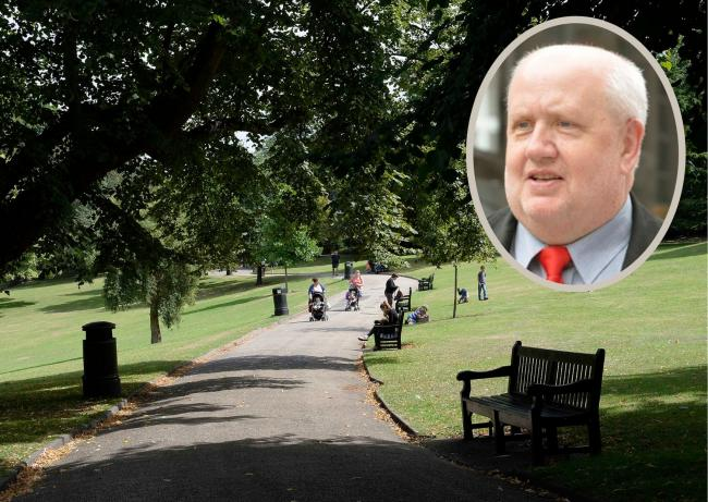 Colchester's Castle Park is for relaxing, not boozing, says Colchester councillor Mike Lilley (inset)