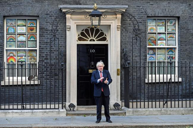 PM Boris Johnson on the steps of 10 Downing Street. Picture: Kirsty O'Connor/PA Wire