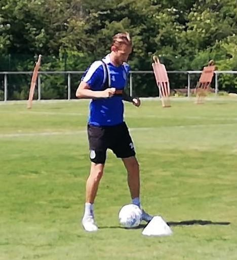 Return - Colchester United midfielder Ben Stevenson is put through his paces during training at Florence Park this week Picture: WWW.CU-FC.COM
