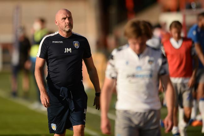 Setback - Colchester United boss John McGreal after his side's play-off defeat at Exeter City Picture: RICHARD BLAXALL