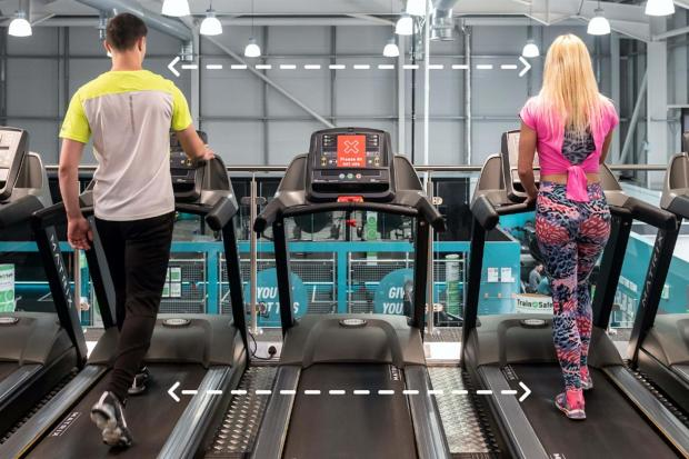 Gazette: Social distancing: Pure Gym confirms new rules and what centres will be like when they reopen. Picture: PureGym