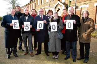 Celebrations: Colchester 2020 members, who have donated £5,000 to the cause