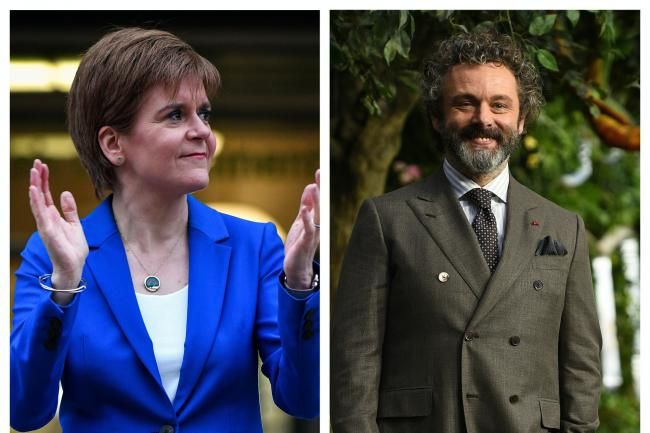 Nicola Sturgeon and Michael Sheen