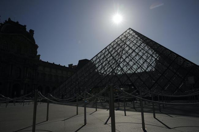 The pyramid of the Louvre museum (Christophe Ena/AP)