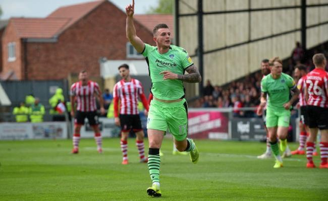Popular - former Colchester United winger Brennan Dickenson has been released by Exeter City Picture: PAGEPIX