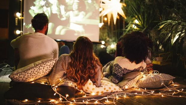 Gazette: Sit back and relax with a projector and outdoor screen. Credit: Getty Images / M_A_Y_A