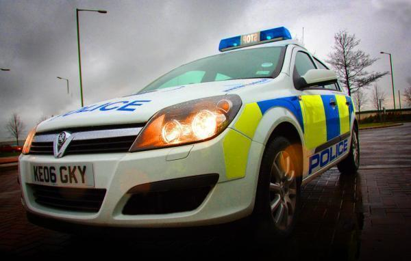 Stock police car image