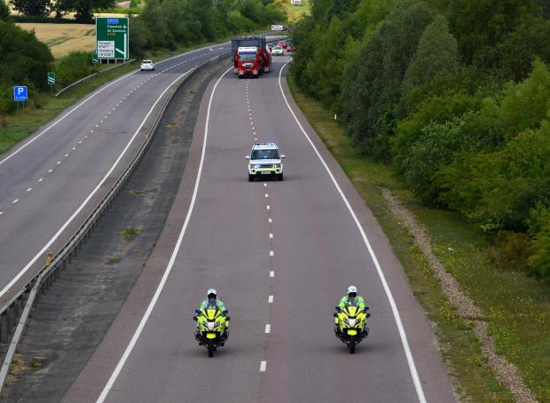 Gazette: Escort - Police escorted the large vehicle
