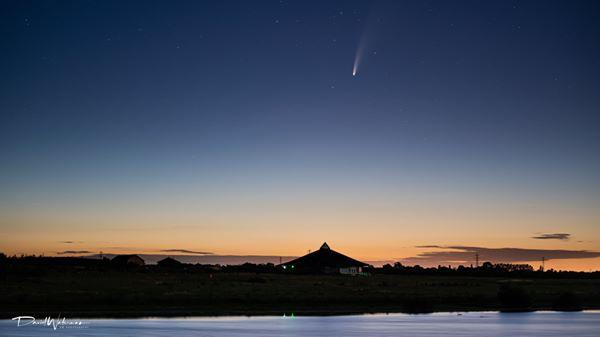 Comet Neowise pictured at Abberton Reservoir in Essex by Camera Club member David Waterman