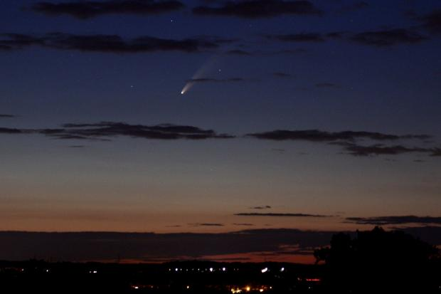 Gazette: Paul Blakesley took this photo of the comet