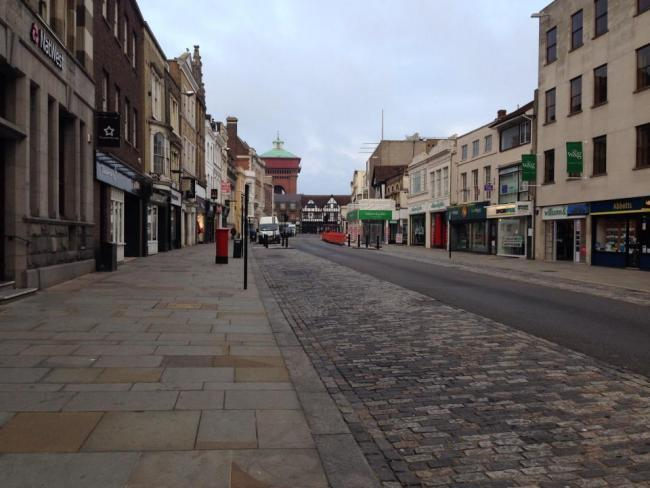 Colchester High Street's pavements are being revamped