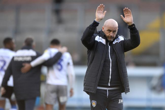 Moving on - John McGreal has thanked the Colchester United fans for their support during his time in charge Picture: RICHARD BLAXALL