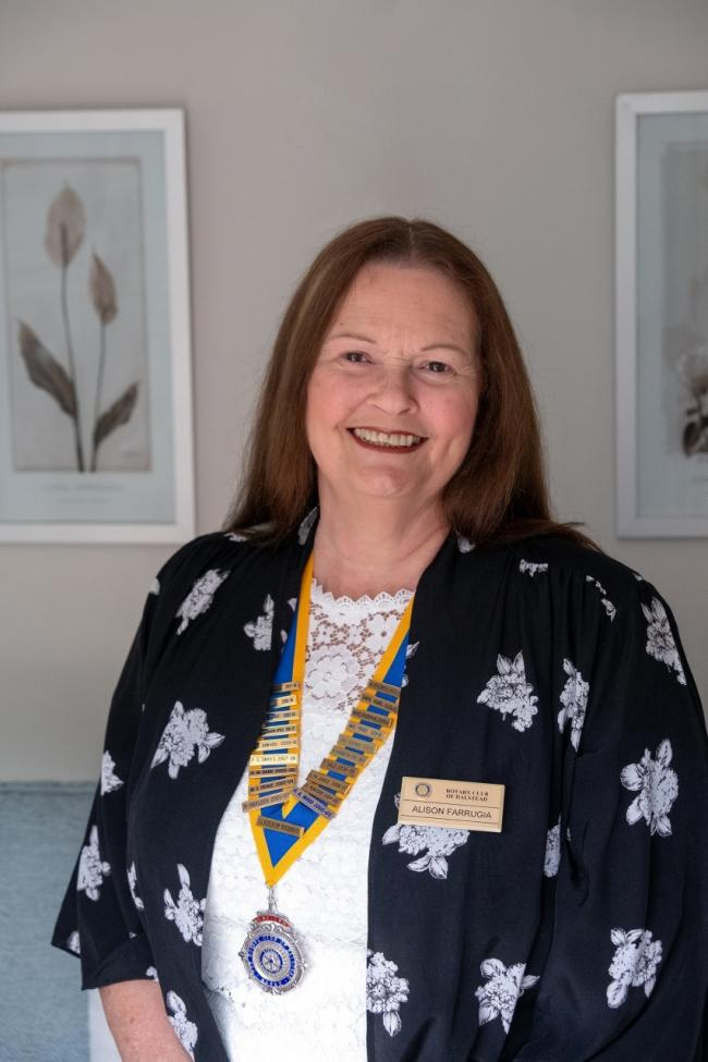 The Halstead Rotary Club's new president, Alison Farrugia (Tony Sale)