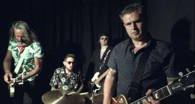 NEW VIDEO: Ben Wood and the Bad Ideas realeased their seventh single called Dig. Pictured: Ben Wood on lead vocals, Andy Duke on lead guitar, Clive Bissell on drums and Ed Sonsino on bass