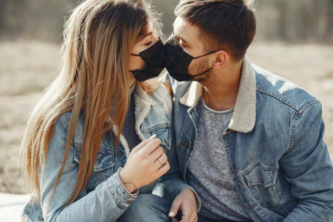 A charity has advised people to wear face coverings during sex to prevent the spread of coronavirus. Picture: Pexels