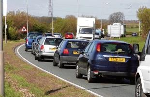 Delays on A120 after break down