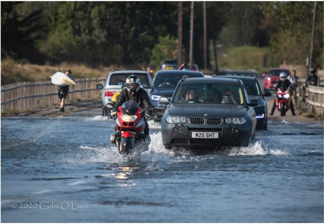 Scene - flooding  on The Strood PICTURE: Colm O Laoi