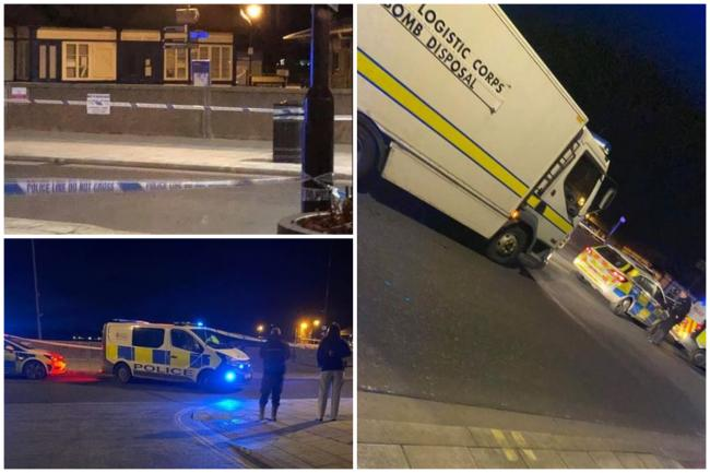 Bomb squad called in to remove 'unexploded objects' - pictures by Angie Mcphee