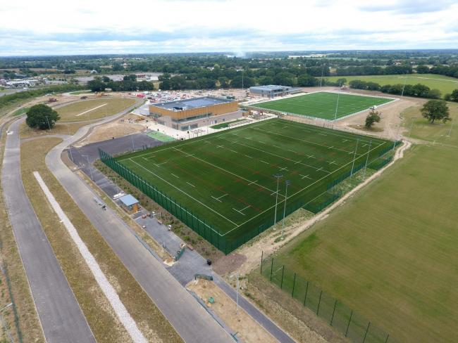 Work in progress - the opening of the Northern Gateway Sports Park has been delayed because of coronavirus