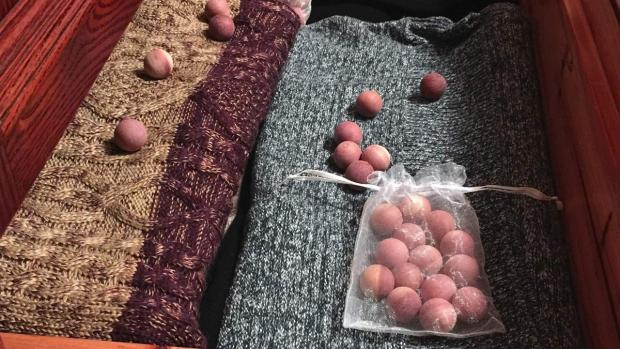 Gazette: Cedar balls will keep pests away from your clothing. Credit: Cedar Space