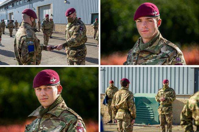 Recognition - Colchester-based paratroopers received medals after their Afghanistan tour  PICTURE: MoD