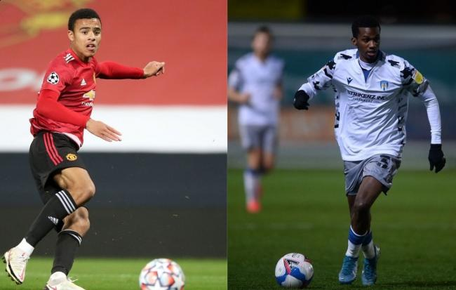 Pals - Mason Greenwood played in the same Manchester United youth teams as Colchester United forward Joshua Bohui Picture: PA WIRE/NICK POTTS/RICHARD BLAXALL